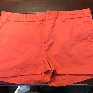 Coral khaki shorts